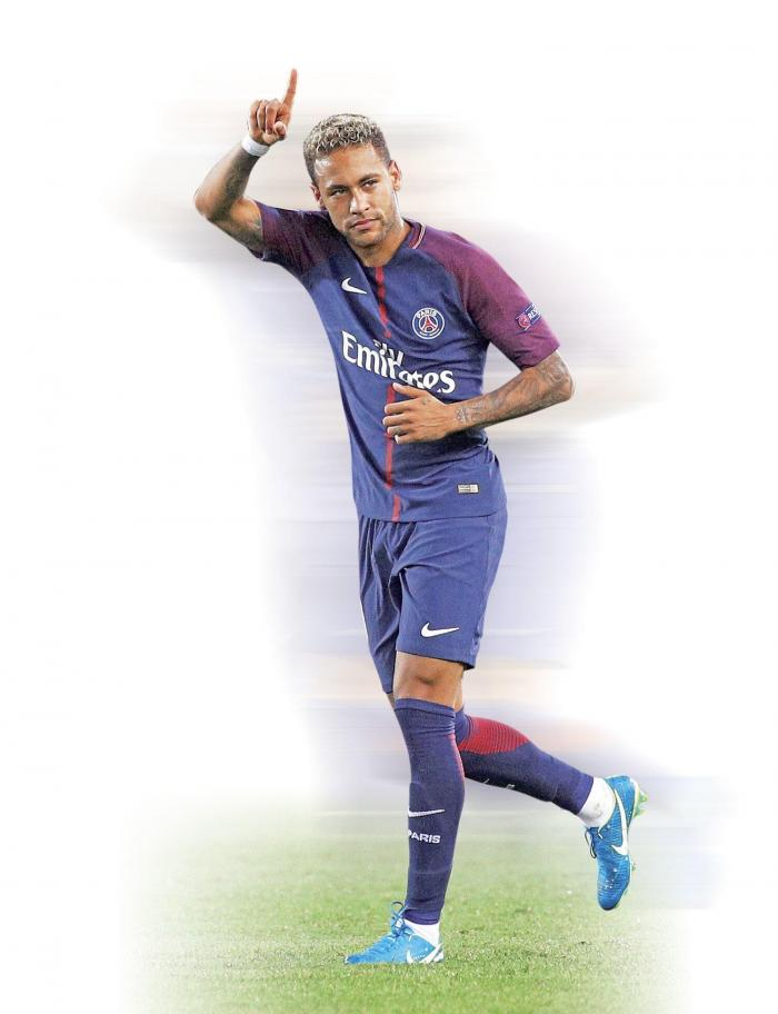 Neymar del PSG no participó del enfrentamiento contra el Real Madrid.