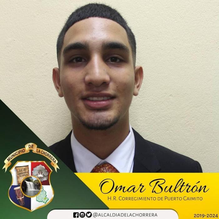 Omar Bultron - representante de Puerto Caimito