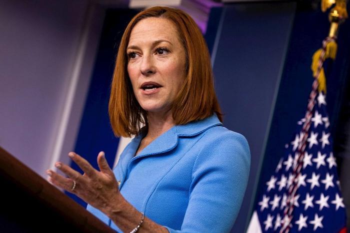 Jen Psaki, secretaria de Prensa de la Casa Blanca