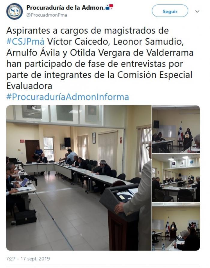 Twitter Procuraduría