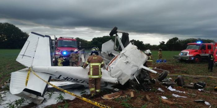 Accidente áereo en Guararé, septiembre de 2019