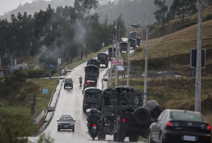 El presidente de Ecuador, Lenín Moreno, decretó el jueves un estado de excepción por 60 días en todo el territorio nacional