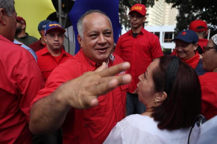 el líder chavista, Diosdado Cabello