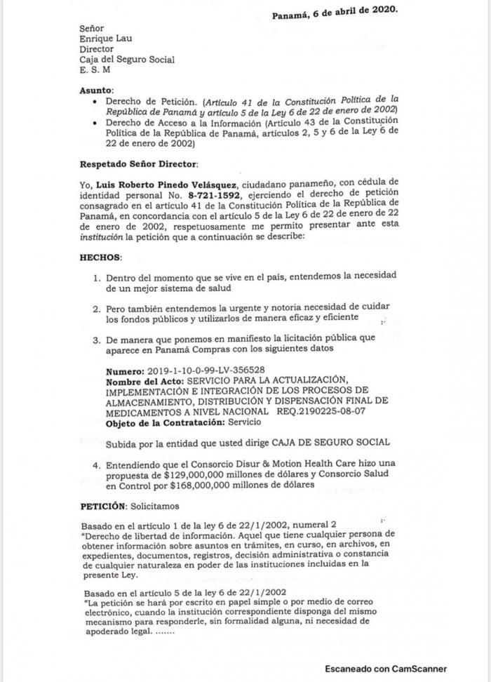 Pág 1 carta a CCS
