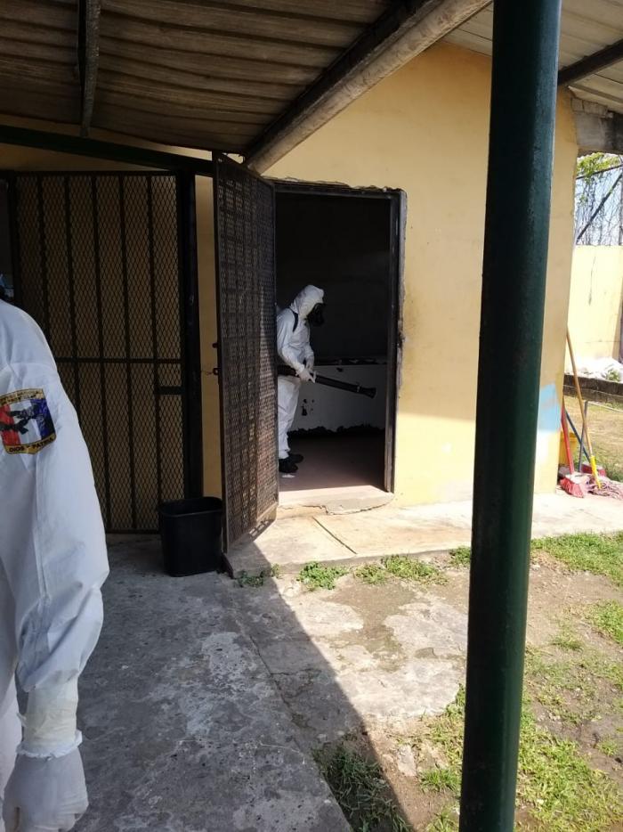 Desinfección en tutelares