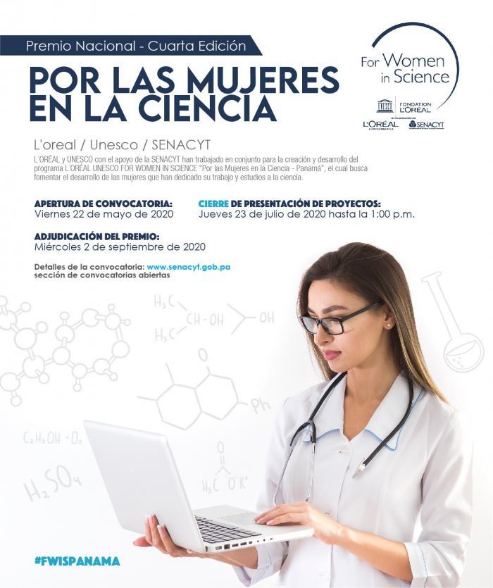 Premio por las mujeres en la ciencia, 2020.