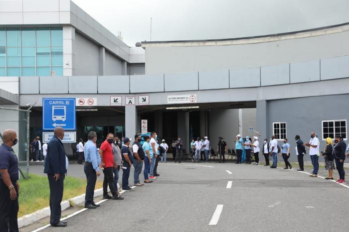 Trabajadores del Aeropuerto Internacional de Tocumen