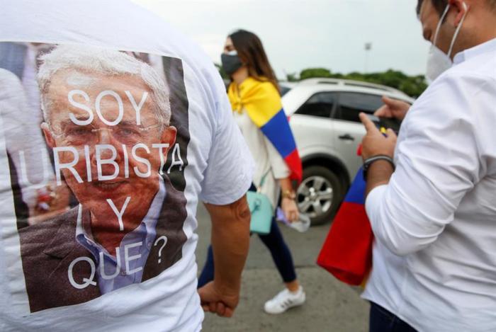 Simpatizantes de Uribe
