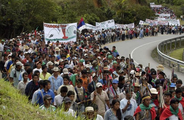 Protestas líderes sociales Colombia