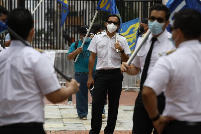 Protesta de trabajadores de Copa, Fenatia