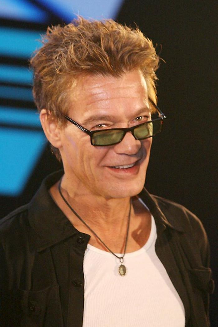 Eddie Van Halen de la banda de rock estadounidense Van Halen