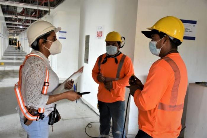 Inician los trabajos de habilitación del área dedicada a #COVID19 en la Ciudad de la Salud.