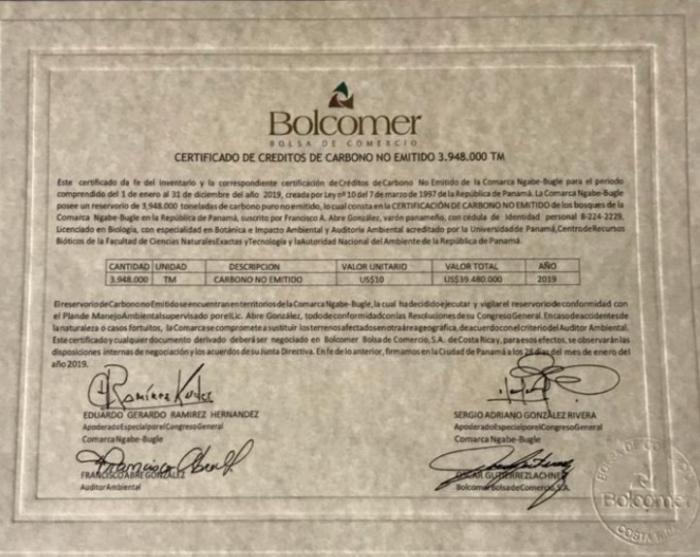 Certificado con la firma de Sergio González Rivera