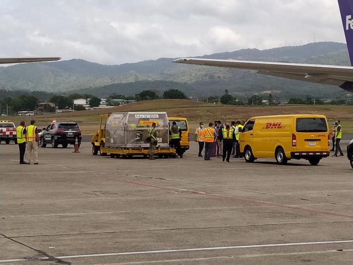 Panamá recibe su noveno lote de dosis de la vacuna contra la covid-19