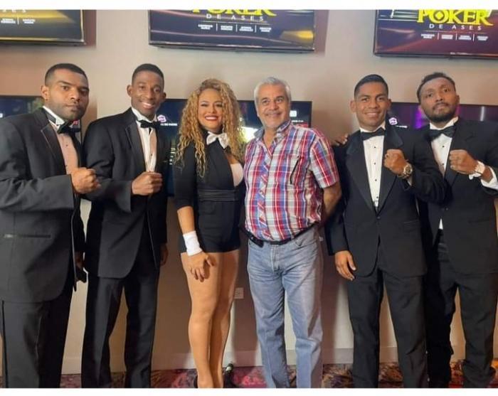 Púgiles integrantes de la mega cartilla 'Poker de Ases'.