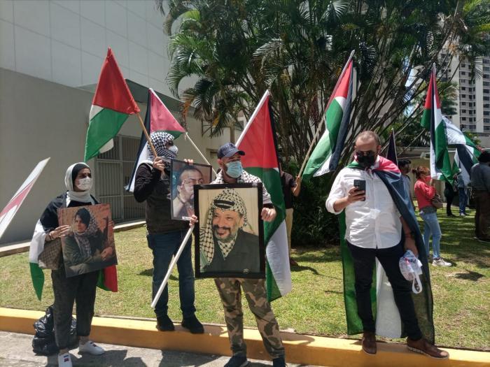 Panameños se manifiestan en solidaridad con Palestina 2021
