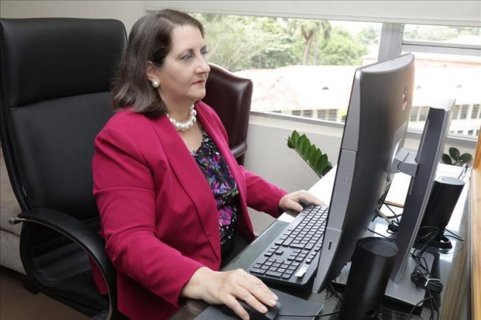 Angela Ruso de Cedeño, vicepresidenta de la Corte Suprema de Justicia (CSJ) y magistrada presidenta de la Sala Primera de lo Civil