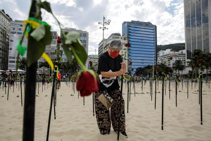 Rosas rojas en Copacabana