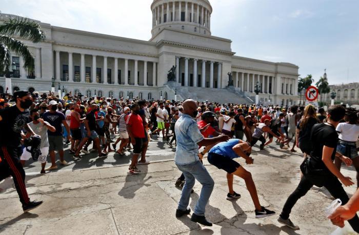 La Habana fue la ciudad donde se registraron las marchas antigubernamentales más multitudinairas.