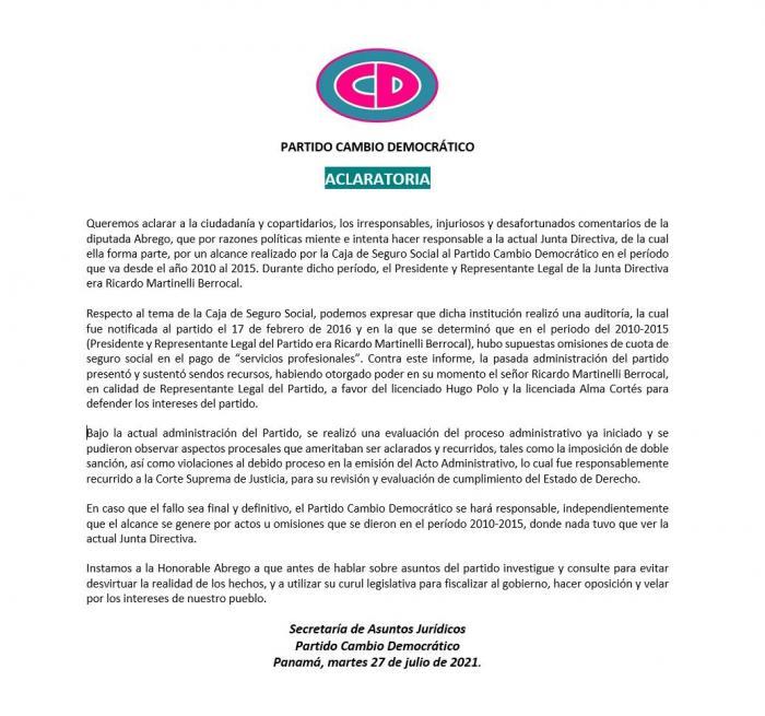 Nota Aclataroria