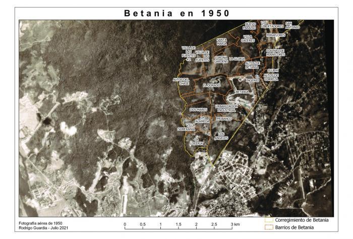 Betania: expansión urbana a mediados del siglo XX