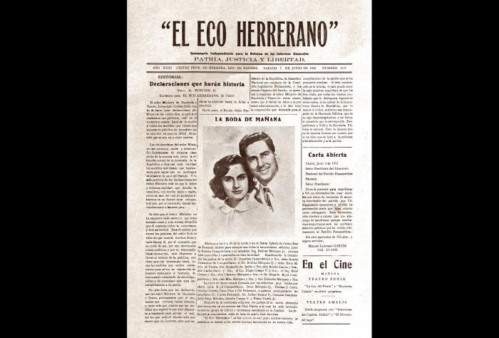 Centenario de 'El Eco Herrerano', fundado en Chitré (1921)
