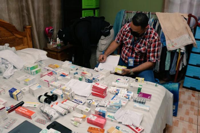 Medicamentos encontrados en el allanamiento de este 16 de septiembre de 2021