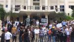 Protesta en la Corte en contra de la impunidad