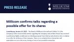 Millicom estudia oferta de compra por parte de Liberty