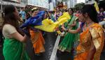 Los colores de la India vibraron en la capital