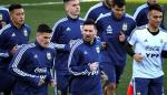 Messi, protagonista del primer entrenamiento de Argentina en Madrid