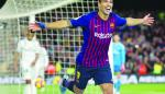 Suárez, quinto goleador de la historia del Barcelona