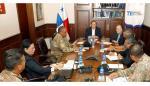 Magistrados del TE y director del Senan coordinan logísticas para elecciones