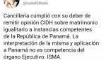 Cancillería remitió opinión de la CIDH sobre matrimonio igualitario
