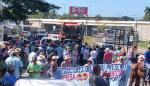 Ánimos caldeados durante las protestas de los productores