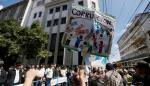 Lanzan gas pimienta a manifestantes cerca del Congreso de Guatemala