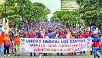 Sindicatos marchan en Costa Rica contra la reforma fiscal