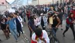 Indígenas y movimientos sociales protestan hoy, miércoles contra de las medidas económicas decretadas por el Presidente Lenin Moreno en Quito