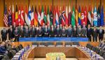 Departamento de Estado estadounidense donde se muestran a los 31 miembros de la coalición contra el grupo yihadista Estado Islámico (EI)