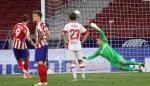 El delantero del Atlético de Madrid Álvaro Morata consigue su gol ante el Mallorca