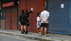 Cierre de locales en la ciudad de Panamá a causas del Coronavirus.
