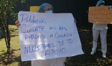 Enfermeras protestan para exigir mejores equipos de protección