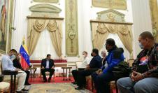 Nicolás Maduro, presidente de Venezuela, se reúne con delegación del PRD