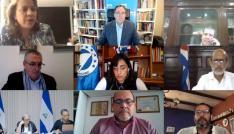 Parlamentarios en reunión virtual