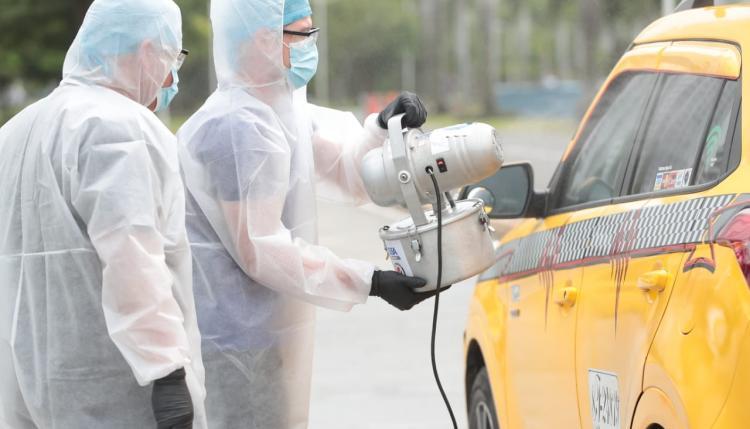Desinfección en taxis