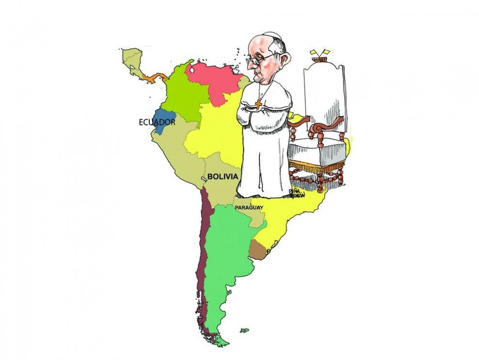 El mensaje del papa en Suramérica