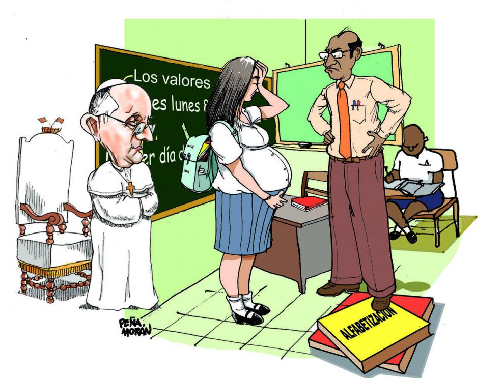 Los valores y el santo padre que vive en Roma