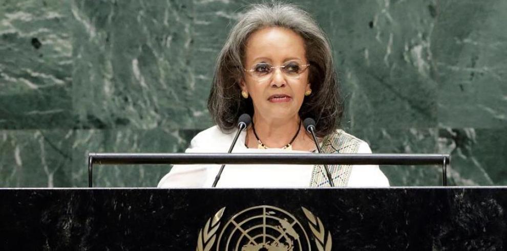Sahle-Work Zewde, presidenta de Etiopia durante la 74 Asamblea General de la ONU