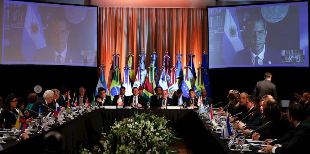 Vista general de una reunión de ministros de Relaciones Exteriores de los países que integran el Grupo de Lima.
