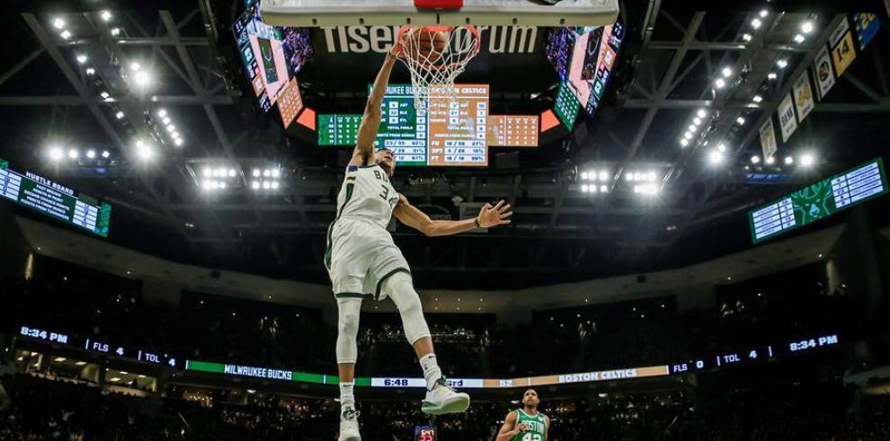 En la imagen, el jugador griego Giannis Antetokounmpo de Milwaukee Bucks.